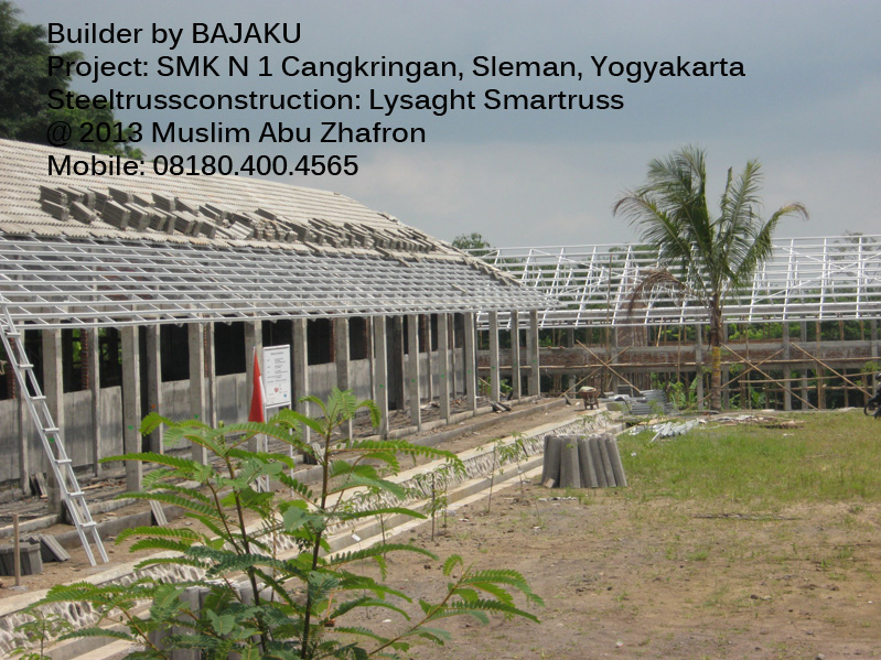 Lysaght Smartruss Proyek SMK Cangkringan Yogyakarta